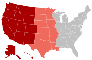 map of the west usa