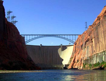 Glen Canyon Dam & Colorado River, photo by David F Menne, all rights reserved