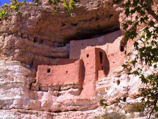 Photo of Montezuma Castle by David F Menne, all rights reserved.