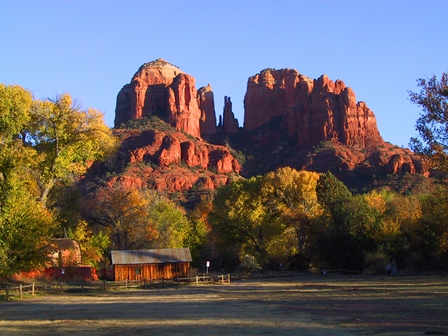 Photo of Cathedral Rock formation near Sedona Arizona taken on a Custom Private Escorted tour with Tour The Southwest .com LLC