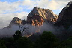 Zion National Park in the early morning